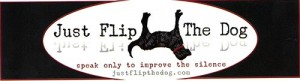 Just Flip the Dog Black Bumpersticker